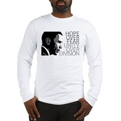 Obama - Hope Over Division - Grey Long Sleeve T-Shirt