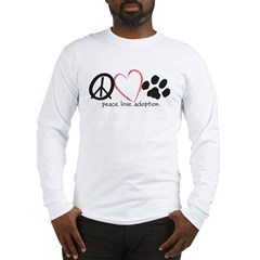 peace love adoption.001 Long Sleeve T-Shirt