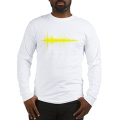 AudioWave_Yellow_1shot Long Sleeve T-Shirt