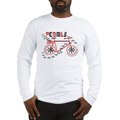 Pedals Cyclist Men's double dry short sleeve mesh Long Sleeve T-Shirt