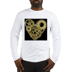 Women's Steampunk Heart T-Shirt (black) Long Sleeve T-Shirt