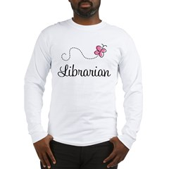 Cute Librarian Long Sleeve T-Shirt