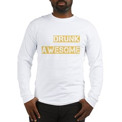 drunk awesome_dark Long Sleeve T-Shirt