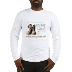 My Husband Wears Combat Boots Long Sleeve T-Shirt
