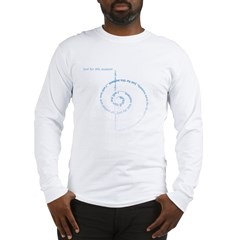 spiral_bluefade.psd Long Sleeve T-Shirt