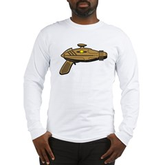 Brown Ray Gun Long Sleeve T-Shirt