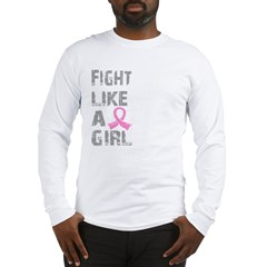 Fight Like A Girl Breast Cancer D 21.8 Long Sleeve T-Shirt