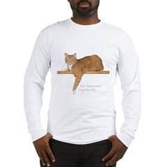 Orange Cat Ginger Kitty Long Sleeve T-Shirt
