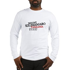 Kilimanjaro Men's Sports T-Shirt (slant) Long Sleeve T-Shirt