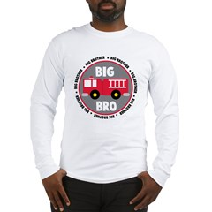 Big Brother Fire Truck Long Sleeve T-Shirt