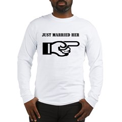 Just Married (her) Ash Grey Long Sleeve T-Shirt