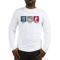 Eat Sleep Tennis - Man 2 Men's double dry short sl Long Sleeve T-Shirt