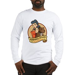 Large Pinup and dog logo NO SHADING Long Sleeve T-Shirt