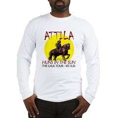 Attila 'Huns in the Sun' tour Ash Grey Long Sleeve T-Shirt