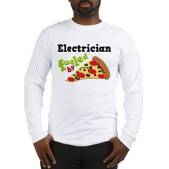 Electrician Funny Pizza Long Sleeve T-Shirt
