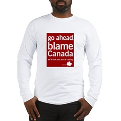 Blame Canada Ash Grey Long Sleeve T-Shirt