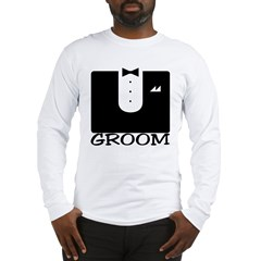 "Tuxedo ""GROOM"" Long Sleeve T-Shirt"