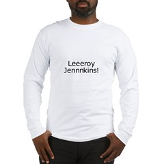 Leroy Jenkins Gray Long Sleeve T-Shirt