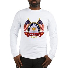 God Bless America Ash Grey Long Sleeve T-Shirt