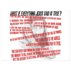 What if Jesus is truth.jpg 5.5 x 7.5 Flat Cards