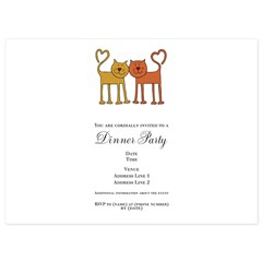 Love Cats 5.5 x 7.5 Flat Cards