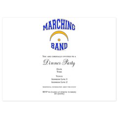 Marching Band 5.5 x 7.5 Flat Cards