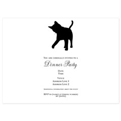 Black Kitten Silhouette 5.5 x 7.5 Flat Cards