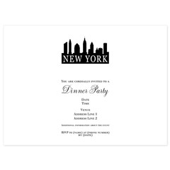 New York Skyline 5.5 x 7.5 Flat Cards