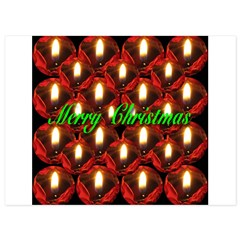 Twenty-six Memorial Rose Christmas Candles 5.5 x 7.5 Flat Cards
