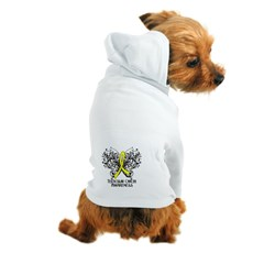 Butterfly Testicular Cancer Dog Hoodie