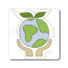 earthfriendhands.png Puzzle Coasters (set of 4)