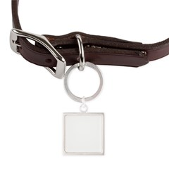 Henna Large Square Pet Tag