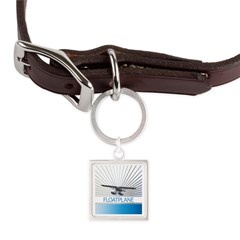 Aircraft Float Plane Large Square Pet Tag