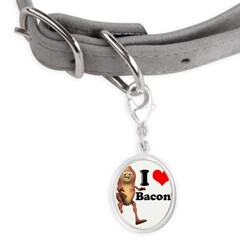 bacon copy.jpg Small Oval Pet Tag
