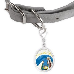 nativity scene cp.png Small Oval Pet Tag