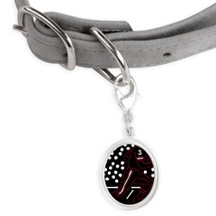 32197306crimson.png Small Oval Pet Tag