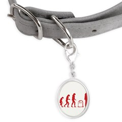 Evolution zombie Small Oval Pet Tag