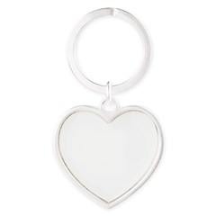 Norway (Flag, International) Heart Keychain