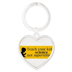 Teach your kids science Heart Keychain