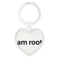 I am root. - Heart Keychain