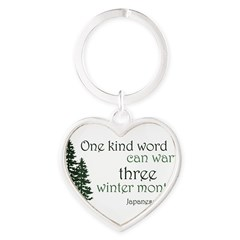 Kind Word Heart Keychain