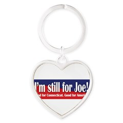 I'm still for Joe (Lieberman) Heart Keychain