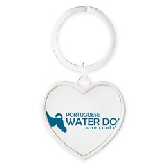 "P. Water Dog ""One Cool Dog"" Heart Keychain"