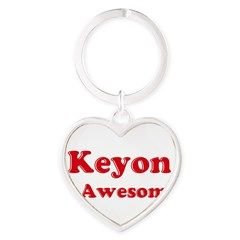 Keyon is Awesome Heart Keychain