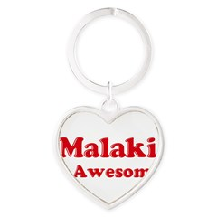Malaki is Awesome Heart Keychain