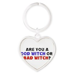 Good Witch or Bad Witch? Heart Keychain