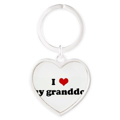 I Love my granddog Heart Keychain