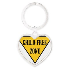 Child-Free Zone Heart Keychain
