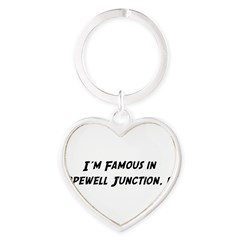 Famous in Hopewell Heart Keychain