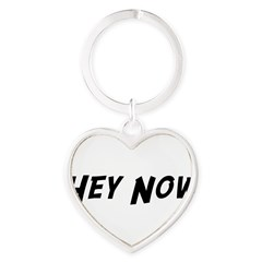 Hey Now Heart Keychain